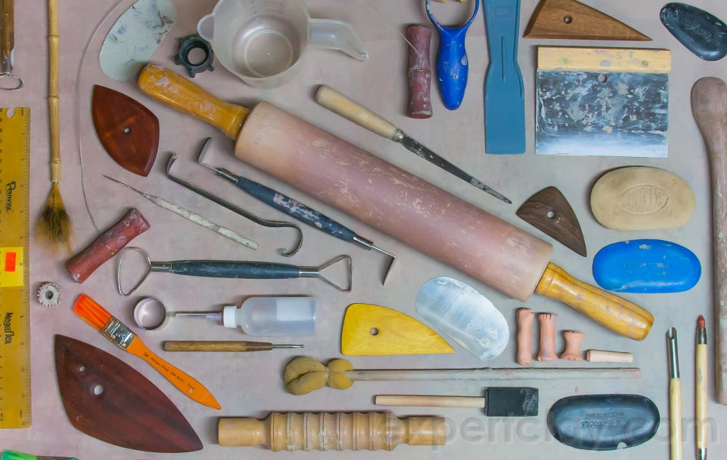 organized pottery tools