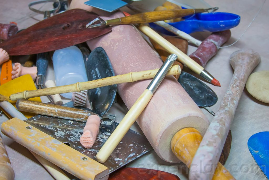 pottery tools mess