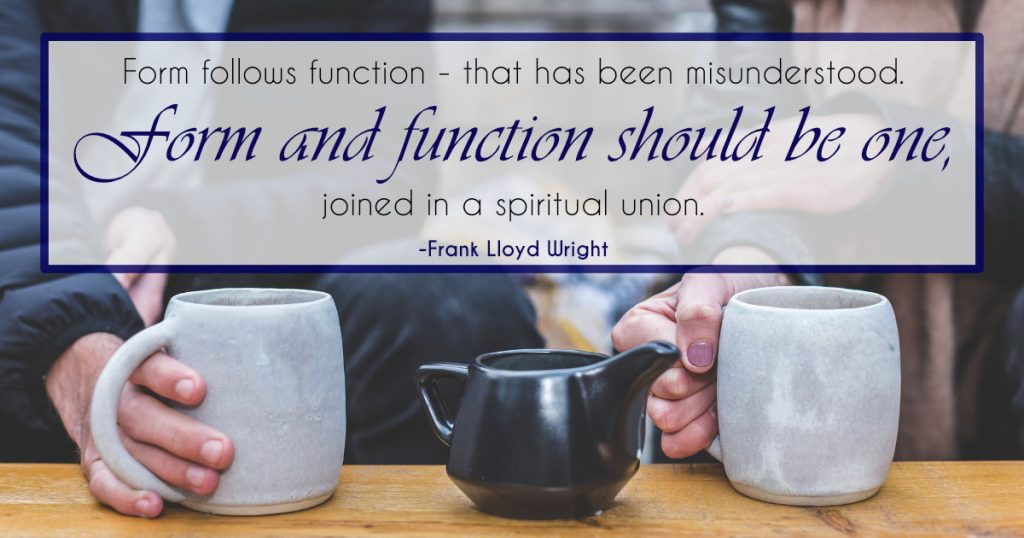 frank lloyd wright quote - form and function